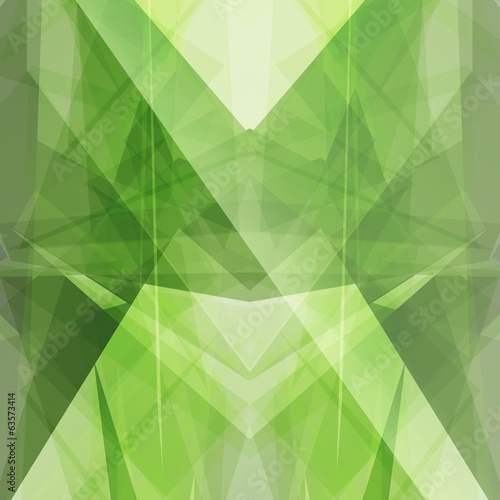emerald green triangular square background button icon