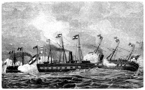 Naval Battle - middle 19th century