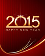 happy new 2015 year red