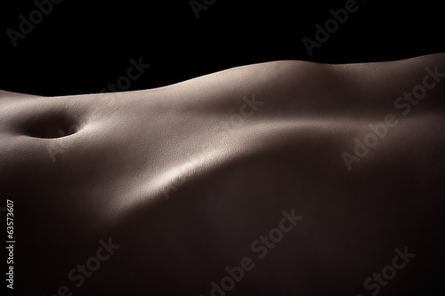 beautiful lines of naked female body