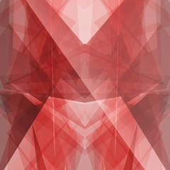 ruby red triangular square background button icon with flare