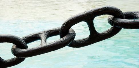 chain in a port