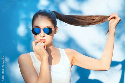 Blue sunglasses