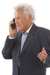 Mature businessman using a cellphone