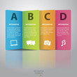 Colorful paper Infographic-Vector.