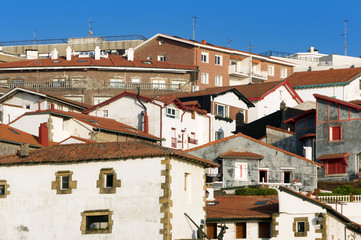 Puerto Viejo houses in Getxo, Basque Country, Spain