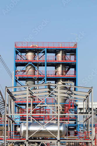 new petrochemical factory construction site