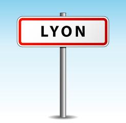 Panneau de ville Lyon