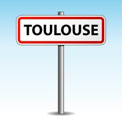 Panneau de ville Toulouse