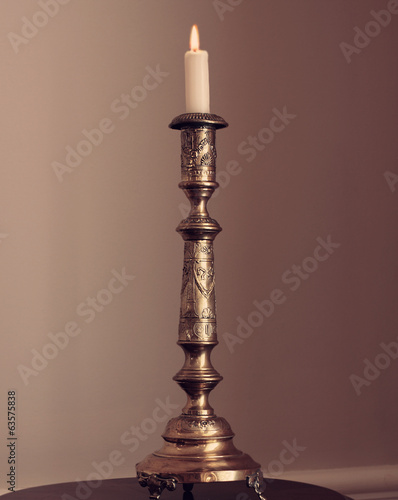 Old-fashioned elegant candlestick