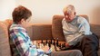 Move Forward, The Game of Chess, Teen and Grandpa Playing Chess