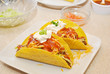 Loaded Taco Shells with Fresh Ingredients