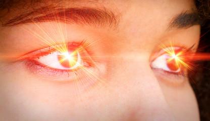 Red eye laser