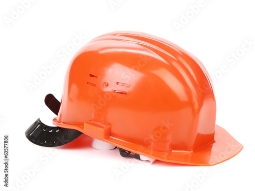 Orange safety head hat.