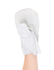 White work glove.