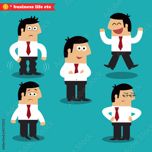 Office emotions in poses