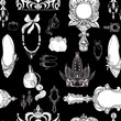 Seamless princess accessories on black