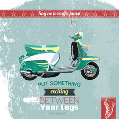 Hipster scooter poster