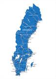 Sweden map - 63578850