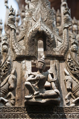 Carving detail of Shwenandaw Kyaung Temple