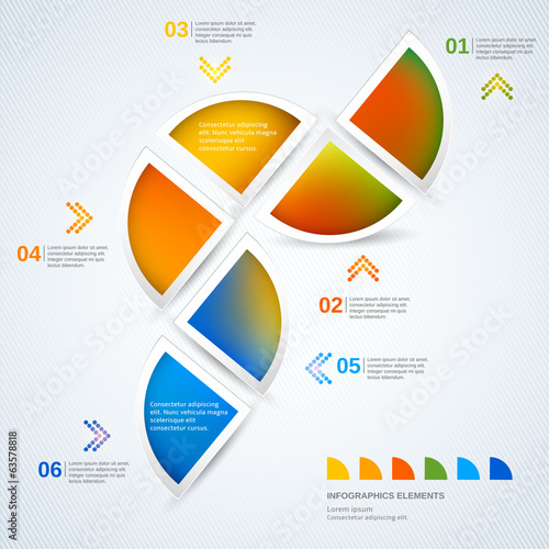 Abstract illustration infographic