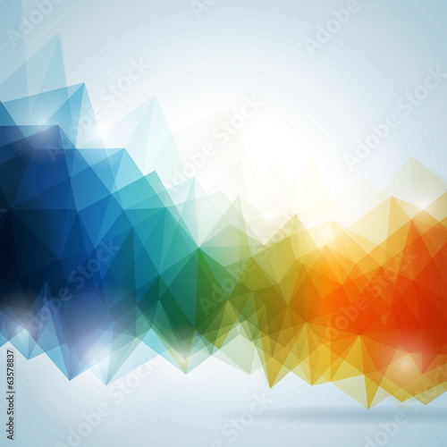 Abstract vector geometric background design.