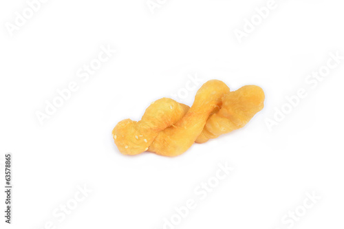 Deep fried dough stick isolate on white background