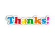 """THANKS!"" Card (thank you very much message greetings gratitude)"