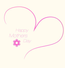 Beautiful mother's day design greeting card vector illustration