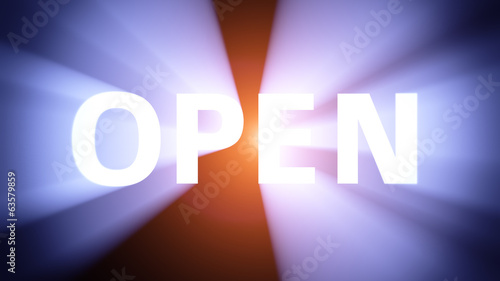 Illuminated OPEN