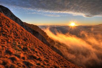 Mountain landscape, Piatra Craiului, Carpathians, Romania