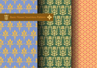 Basic Flower Seamless Pattern
