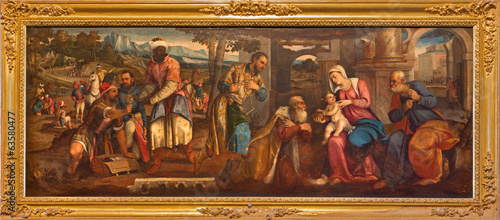 Venice - The Adoration of Magi in Santa Maria dei Frari. - 63580477