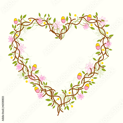 Happy Easter Heart Wreath