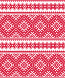 Ukrainian red seamless folk emboidery pattern or print - 63581090