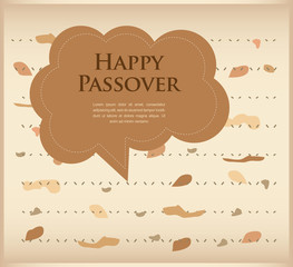 passover invitation. matzoh (jewish bread) with speech bubble
