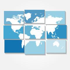 tiled world map vector background