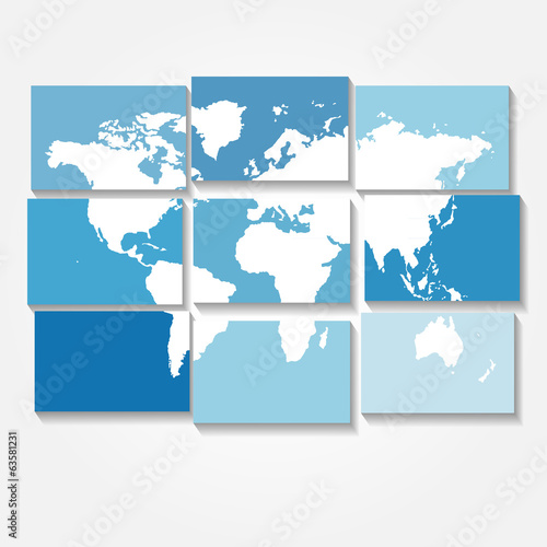 tiled world map vector background