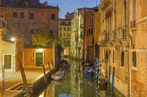 Venice - Look to Rio di San Stin canal in morning dusk