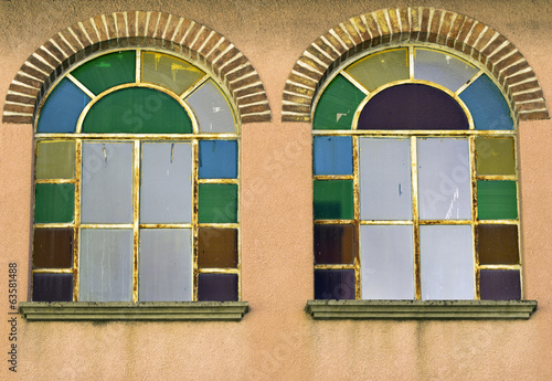 Stained glass windows color image