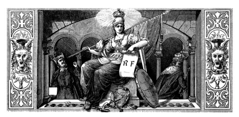 Symbol : French Republic - 19th century