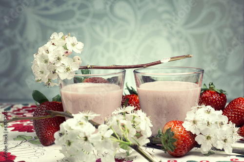 Strawberry mousse coctail