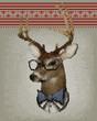 knitting deer
