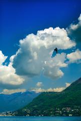 Lago di Como, Italia, cielo e nuvole