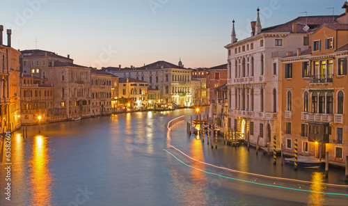 Venice - Canal grande in evening dusk from Ponte Accademia