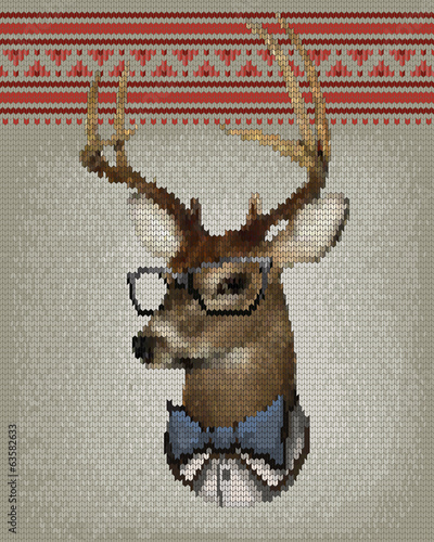 knitting deer
