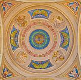 Bologna - Side cupola of Saint Peters church - four Evangelists