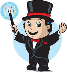 Cute magician