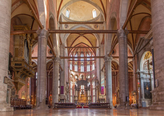 Venice - Interior of Basilica di san Giovanni e Paolo church