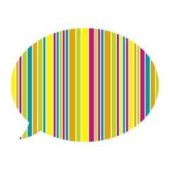the stylish speech bubble